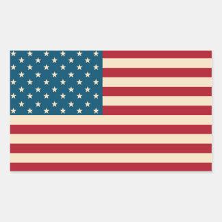 Pegatinas de la bandera americana rectangular altavoz