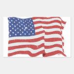 Pegatinas de la bandera americana del vintage
