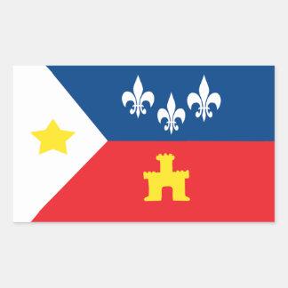 Pegatinas de la bandera de Acadiana Cajun Pegatina Rectangular