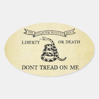 Pegatinas de la bandera de Culpeper Pegatina Ovalada