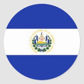 Pegatinas de la bandera de El Salvador Etiqueta Redonda