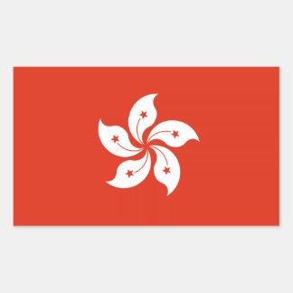 Pegatinas de la bandera de Hong Konger Pegatina Rectangular