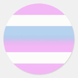 Pegatinas de la bandera de Intersex - redondos Pegatina Redonda