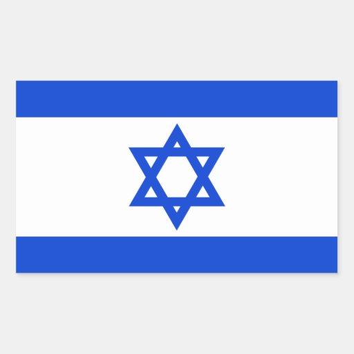 Pegatinas de la bandera de Irsael Pegatina Rectangular