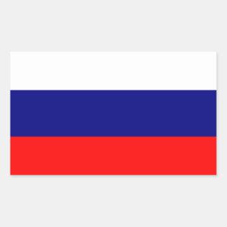 """""""Pegatinas de la bandera de la Federación Rusa"""" Rectangular Pegatinas"""