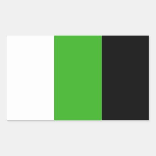 Pegatinas de la bandera de Neutrois Rectangular Altavoces