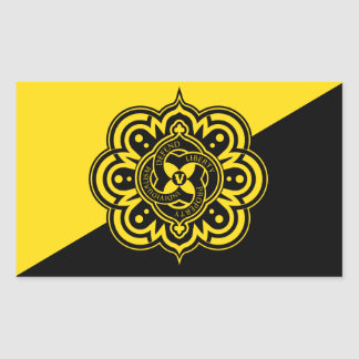 Pegatinas de la bandera de Voluntaryist Rectangular Pegatina
