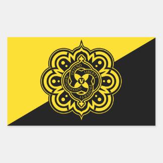 Pegatinas de la bandera de Voluntaryist Pegatina Rectangular