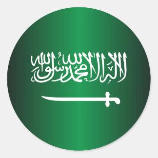Pegatinas de la bandera del saudí pegatina redonda