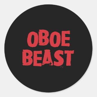 Pegatinas de la bestia de Oboe Etiquetas Redondas