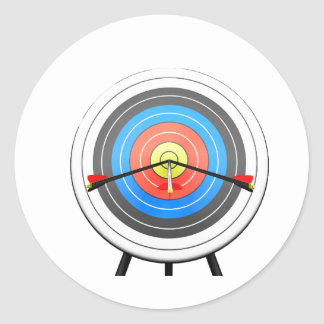 Pegatinas de la blanco del tiro al arco pegatina redonda