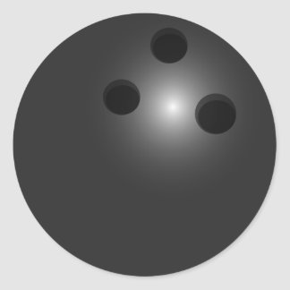 Pegatinas de la bola de bolos pegatina redonda