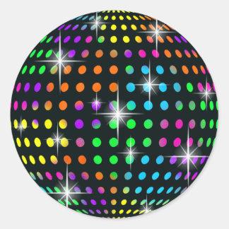 Pegatinas de la bola de espejo del disco etiquetas redondas