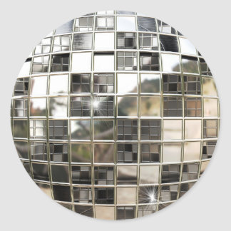 Pegatinas de la bola de espejo pegatina redonda