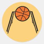 Pegatinas de la bola de la silla de ruedas pegatina redonda
