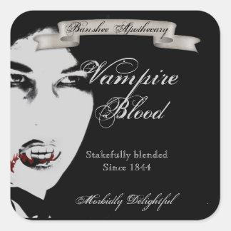 Pegatinas de la botella de Halloween de la sangre Calcomanía Cuadrada Personalizada