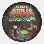 Pegatinas de la bruja de SmallWorlds Halloween Pegatina Redonda