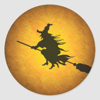 Pegatinas de la bruja del vuelo de Halloween
