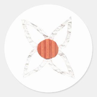Pegatinas de la cadena de margaritas pegatina redonda