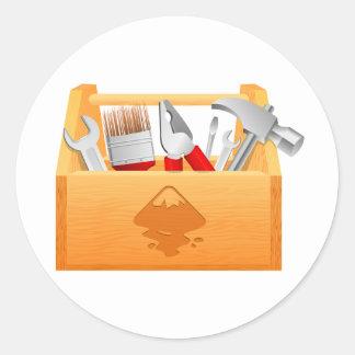 Pegatinas de la caja de herramientas pegatinas redondas