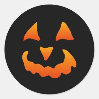 Pegatinas de la calabaza de Halloween (20 Pegatina Redonda