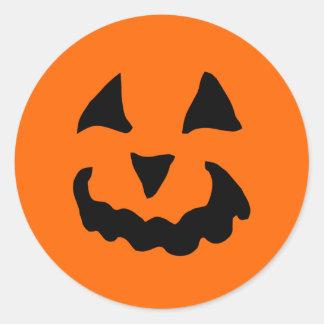 Pegatinas de la calabaza de Halloween (6 grandes) Pegatina Redonda