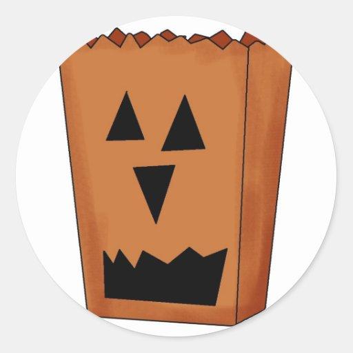 Pegatinas de la calabaza de Halloween Pegatina Redonda