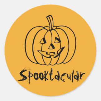Pegatinas de la calabaza de Spooktacular por Pegatina Redonda