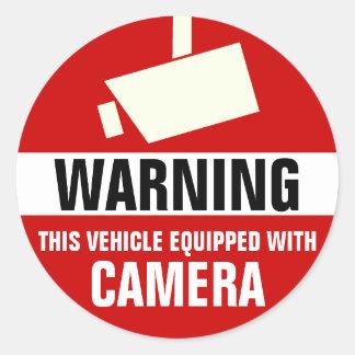 Pegatinas de la cámara del coche/del camión/del pegatina redonda