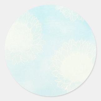 Pegatinas de la capa del girasol/sellos del sobre pegatina redonda