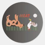 Pegatinas de la carne