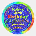 Pegatinas de la celebración del cumpleaños