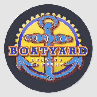 Pegatinas de la cervecería del BoatYard Pegatina Redonda