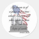 Pegatinas de la cita de Abraham Lincoln