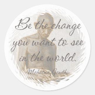 Pegatinas de la cita de Mahatma Gandhi