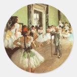 Pegatinas de la clase de danza pegatina redonda