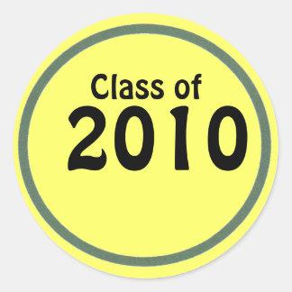 Pegatinas de la clase de la graduación