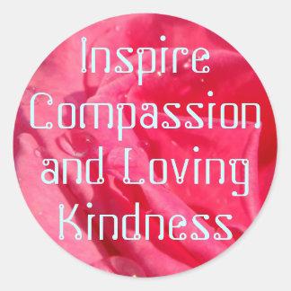 Pegatinas de la compasión pegatina redonda