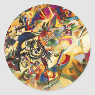 Pegatinas de la composición VII de Kandinsky Pegatina Redonda