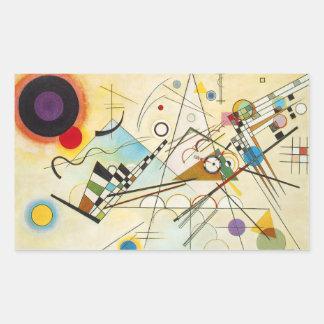 Pegatinas de la composición VIII de Kandinsky Pegatina Rectangular