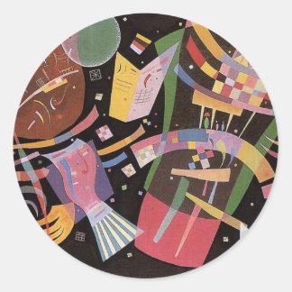 Pegatinas de la composición X de Kandinsky Pegatina Redonda