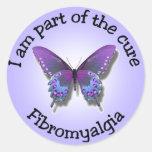 Pegatinas de la conciencia del Fibromyalgia Pegatinas Redondas