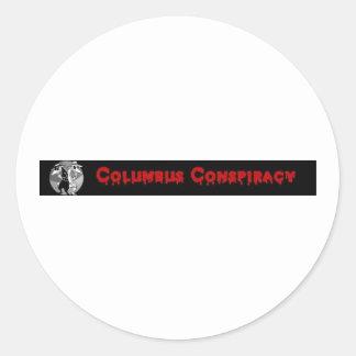 Pegatinas de la conspiración de Columbus Etiquetas Redondas
