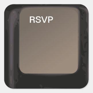Pegatinas de la contestación de la invitación de pegatina cuadradas personalizada