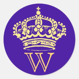 Pegatinas de la corona con el monograma