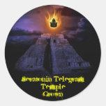 Pegatinas de la corona del templo pegatina redonda