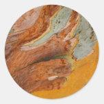 Pegatinas de la corteza de árbol pegatina redonda