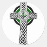Pegatinas de la cruz céltica etiquetas redondas
