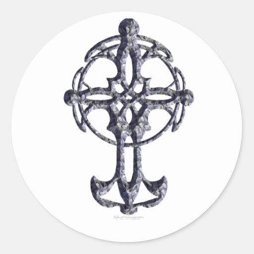 Pegatinas de la cruz céltica pegatinas redondas