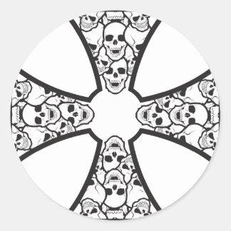 Pegatinas de la cruz del cráneo del hierro